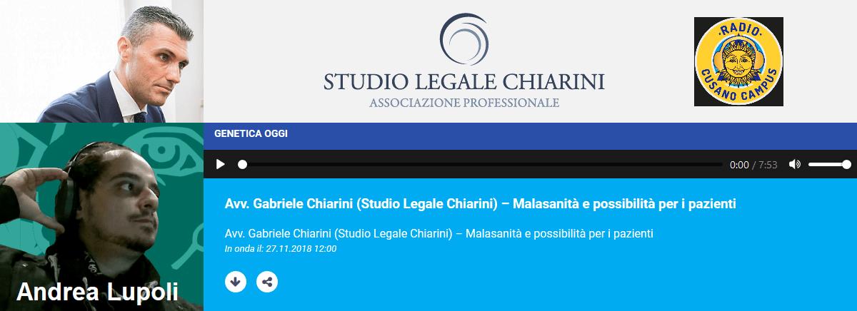 Avv. Gabriele Chiarini su Radio Cusano