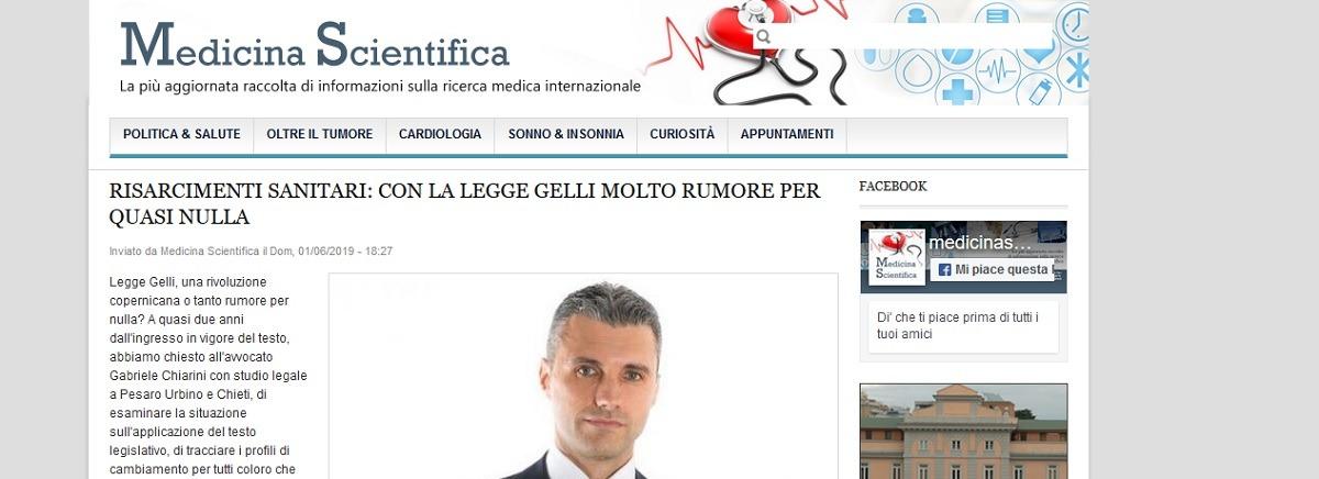 Avv. Gabriele Chiarini per MedicinaScientifica