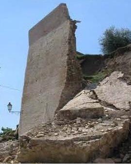 Crollo Mura San Lorenzo in Campo