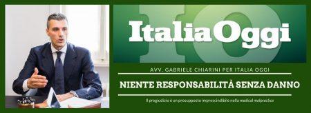 Italia Oggi - Responsabilità sanitaria e COVID-19
