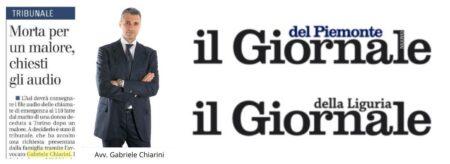 Avv. Chiarini per Il Giornale del Piemonte e della Liguria - Accesso ai files audio del 118 e al registro delle chiamate di soccorso