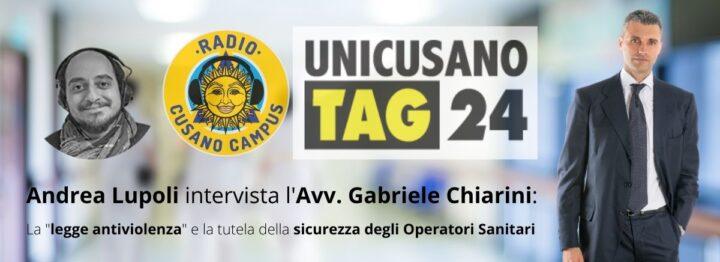Avv. Gabriele Chiarini per Radio Cusano Campus - Sicurezza Operatori Sanitari e legge antiviolenza - Studio Legale Chiarini