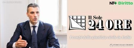 Avv. Gabriele Chiarini per Sole24Ore - I tempi della giustizia civile in Italia