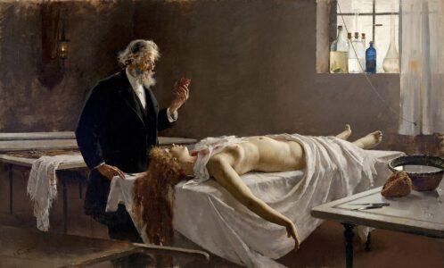 Anatomia del cuore (o L'autopsia), Simonet, 1890