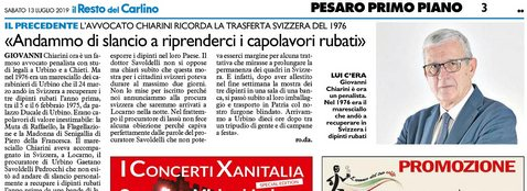 Carlino Capolavori Rubati Avv. Giovanni Chiarini
