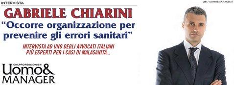 Avv. Gabriele Chiarini su Uomo e Manager